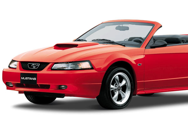 The 2002 Ford Mustang GT Convertible is shown in a handout photo from the Ford Motor Co. in Dearborn, Mich. The fourth generation of Mustangs lasted from 1994 to 2004.