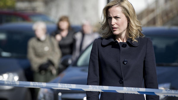 Gillian Anderson plays Stella Gibson, an enigmatic police investigator, in the BBC Two series <em>The Fall</em>.
