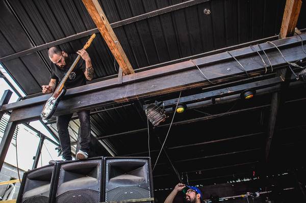 Trash Talk talk used the entire venue for its set at Red 7, from the rafters above the outdoor stage ...