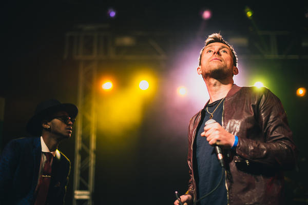 Damon Albarn's subdued set at the NPR Music showcase at Stubb's drew mostly from his forthcoming album, <em>Everyday Robots.</em>