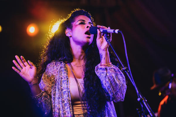 """Kelis played classics like """"Milkshake"""" and songs from her forthcoming album, <em>Food</em>, at the NPR Music showcase at Stubb's."""