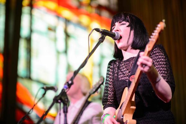 Pins played a set  atCentral Presbyterian Church that made NPR Music's Robin Hilton rave.
