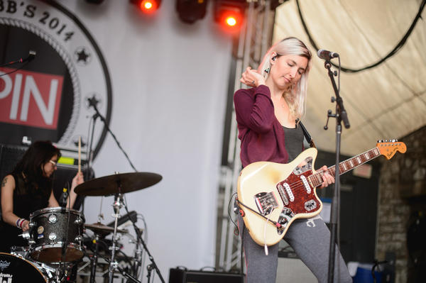 Warpaint's Emily Kokal performs at Spin's day party at Stubb's.