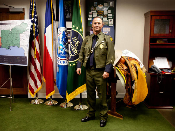 Cmdr. Robert Harris of the U.S. Customs and Border Protection's South Texas Campaign.