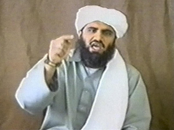 Sulaiman Abu Ghaith appears in this still image taken from an undated video address for al-Qaida.