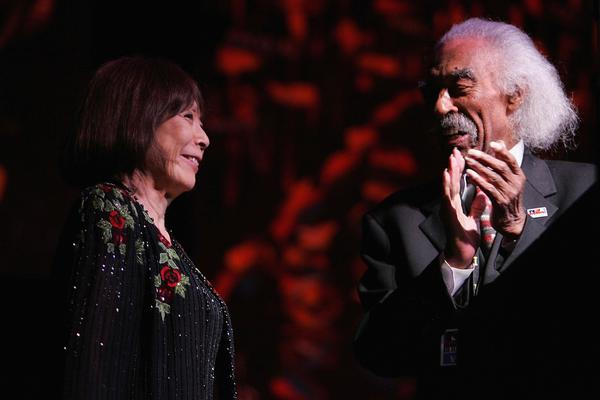 In 2007, bandleader Gerald Wilson presented pianist (and fellow bandleader) Toshiko Akiyoshi with the NEA Jazz Masters award, the highest U.S.-government-supported recognition for jazz artistry.