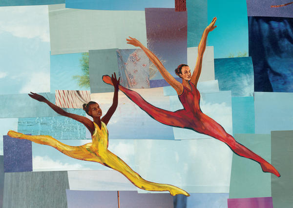 """In her new children's book, <em>Firebird, </em>Misty Copeland encourages a young dancer to have faith in herself. """"You will soar, become a swan, a beauty, a firebird for sure,"""" she writes. The tale is illustrated by Christopher Myers."""