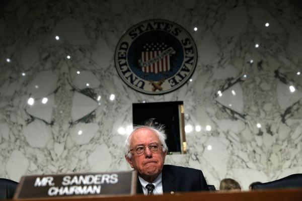 Sen. Bernie Sanders (I-VT) awaits the start of a hearing by the Senate Veterans Affairs Committee on September 9, 2014 in Washington, D.C. (Win McNamee/AFP/Getty Images)