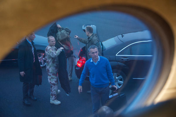 NATO Secretary General Jens Stoltenberg on this way to Kabul.
