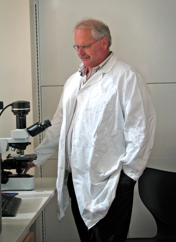 Virologist Ralph Baric in one of his labs at University of North Carolina, Chapel Hill.