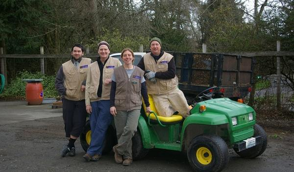 A team of University of Washington students and staff compare the performance and carbon footprint of electric vs. biodiesel maintenance vehicles used at the campus arboretum. Data from the study will help inform future UW purchases.