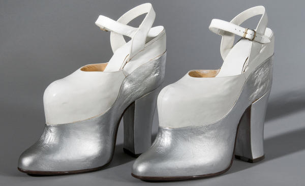 Mae West is said to have worn these super platform shoes both on screen and off.