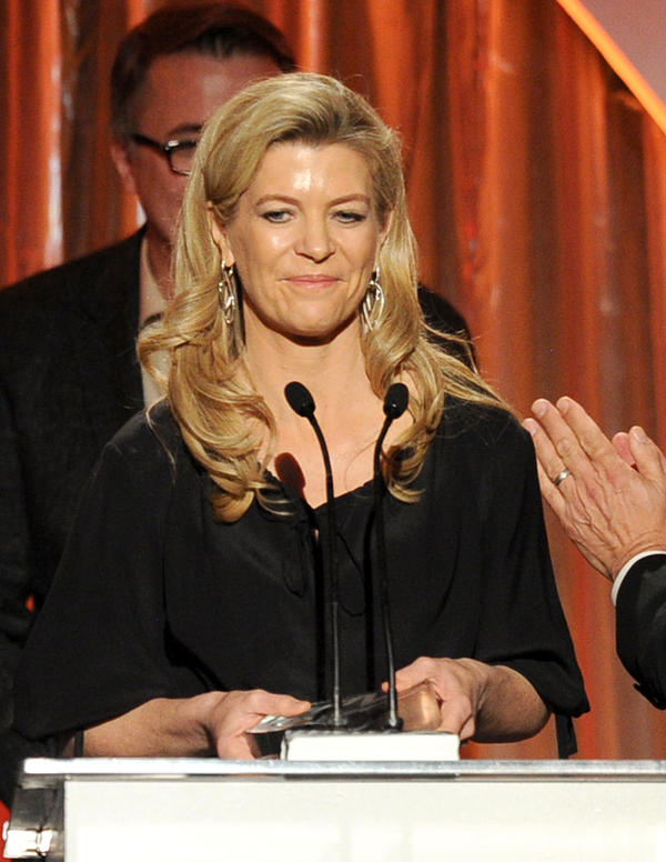 Michelle MacLaren, seen here accepting an award as a producer on <em>Breaking Bad</em>, may direct the upcoming Wonder Woman<em> </em>movie.