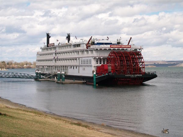 The 360-foot American Empress is the largest of five passenger ships that regularly calls on Clarkston during the Columbia and Snake River cruise season.