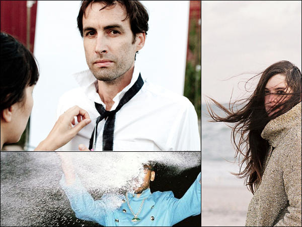 Clockwise from upper left: Andrew Bird, Julianna Barwick, Spoek Mathambo.