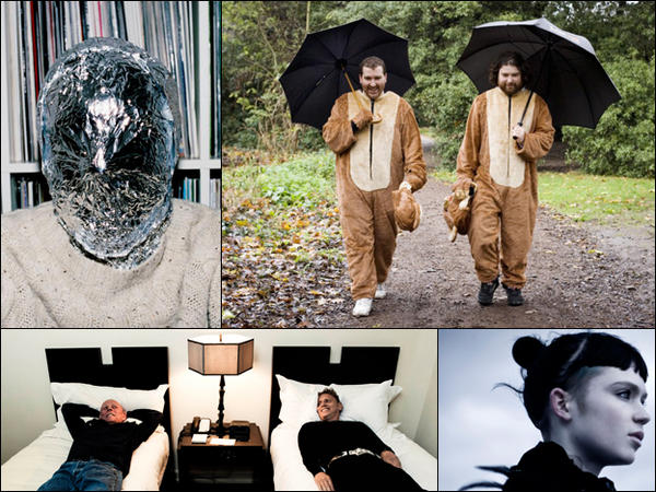 Clockwise from top left: John Talabot, The 2 Bears, Grimes, VCMG.