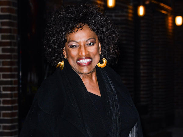 Soprano Jessye Norman leaves the Ed Sullivan Theater in New York on Thursday after taping the <em>Late Show with David Letterman.</em>