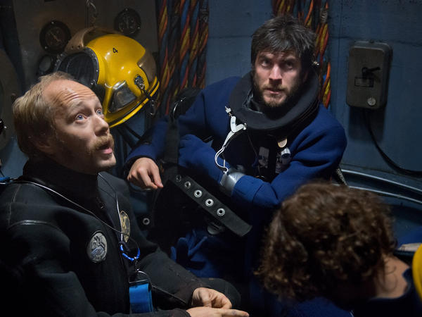 Aksel Hennie and Wes Bentley star as offshore divers in <em>Pioneer</em>.