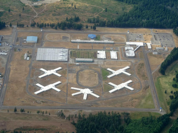An aerial view of  Washington Corrections Center in Shelton.