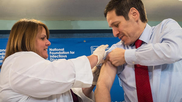 Dr. Thomas Frieden, director of the Centers for Disease Control and Prevention, got his flu shot in September.