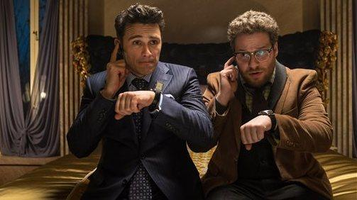 "James Franco (left) and Seth Rogen in <em>The Interview</em>. The North Korean dictator promised ""merciless counter-measures"" if this film was released."