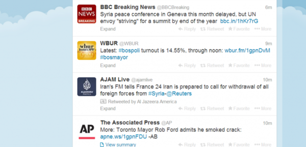 Screenshot of Twitter feed.