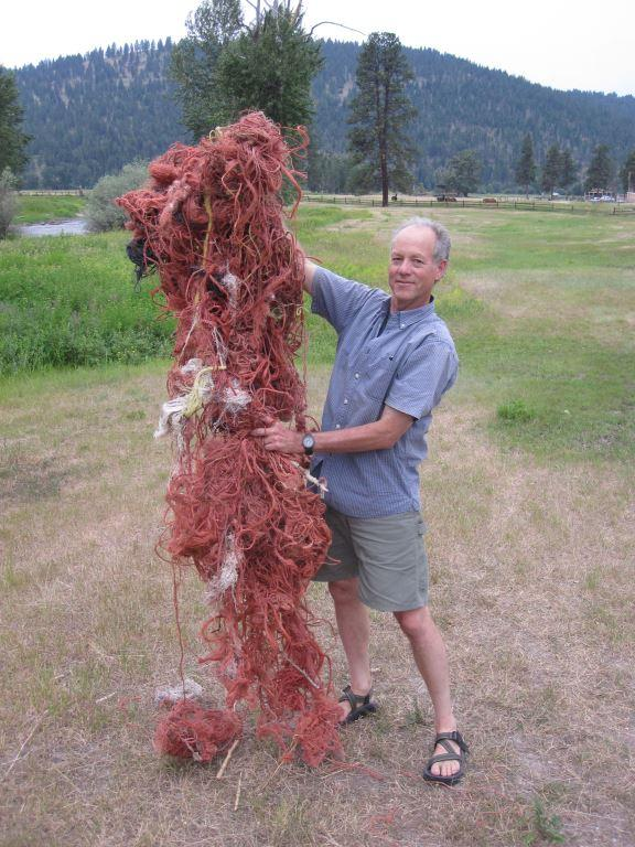 University of Montana Professor Erick Greene says one osprey nest he dissected contained nearly one half mile of discarded baling twine.