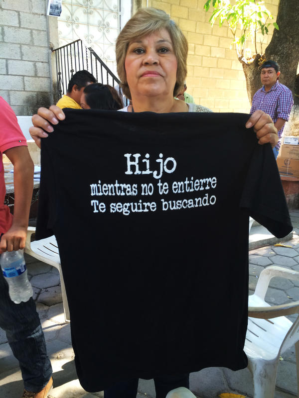 Guillermina Sotelo Castañeda's son disappeared without a trace two years ago. She recently returned to Guerrero, from North Carolina, where she lives now, to continue the search for him.
