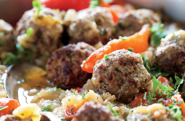 "In her new cookbook ""Jewish Soul Food,"" Janna Gur calls these albondigas, or small meatballs, ""one of the iconic dishes of Sephardic Jews in the Balkans. (Daniel Lailah)"