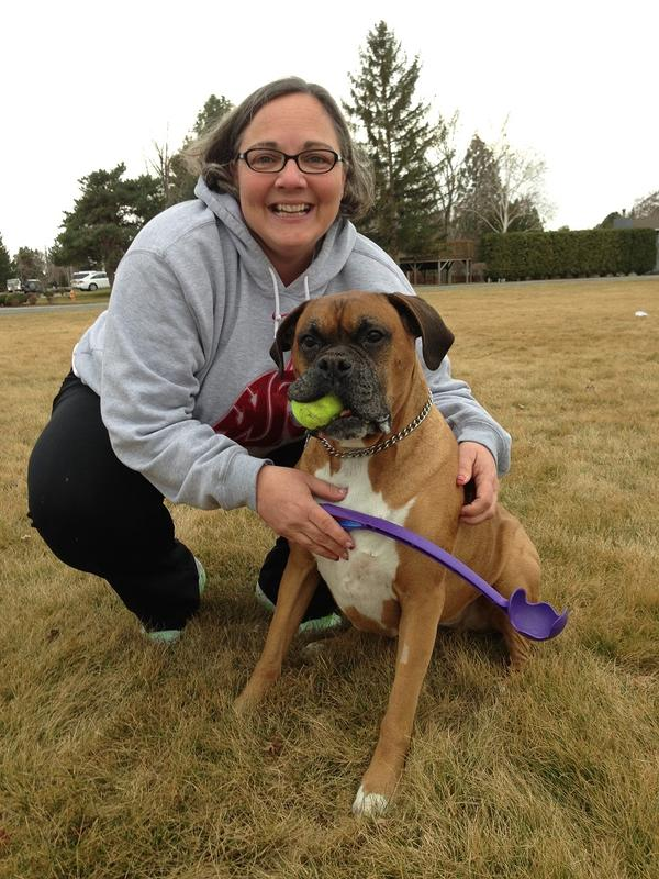 "Donna Busche was fired Tuesday morning from her high-level safety manager position with Hanford contractor URS. She says she finds comfort playing ""tennis"" with her boxer named Xena Warrior Princess."