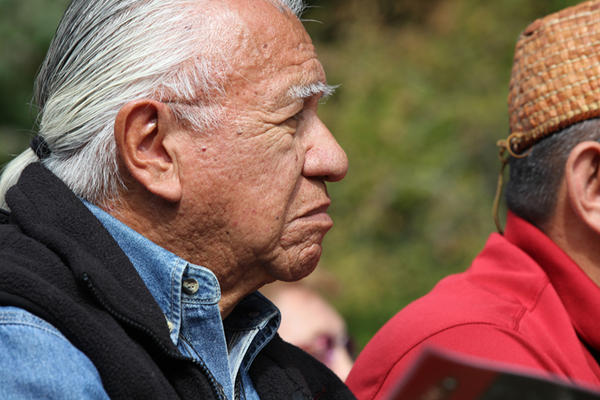 Billy Frank Jr. at the Elwha Dam removal ceremony in 2011.