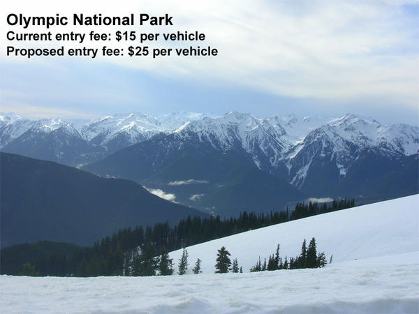 A view of Bailey Range from Hurricane Ridge at Olympic National Park