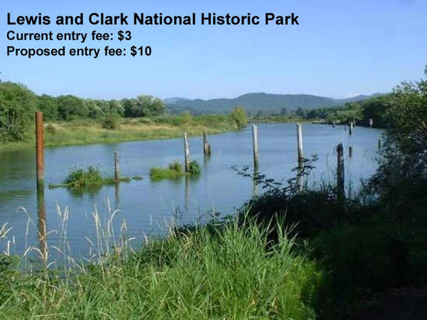 A view of the The Lewis and Clark River near Netul Landing in the Lewis and Clark National Historic Park