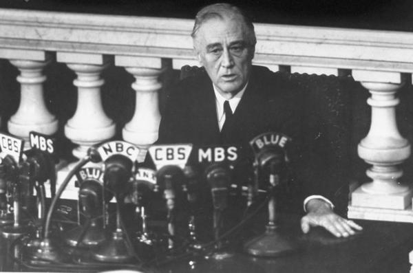 "Shortly before his death, President Franklin D. Roosevelt reports to Congress in 1945 on the Yalta Conference. Bianculli says Ken Burns' documentary <a href=""http://www.npr.org/2014/09/10/347276638/three-roosevelts-come-alive-in-pbs-documentary-ken-burns-best-yet"">The Roosevelts: An Intimate History</a> is his best yet."