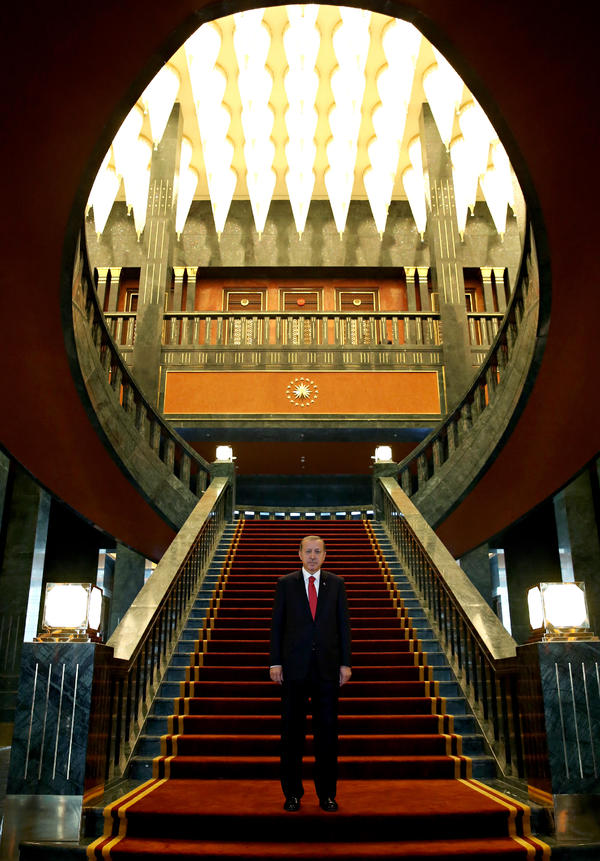 Turkey's President Recep Tayyip Erdogan's year included a number of provocative statements and a move into a new presidential palace, known as the White Palace, which has 1,100 rooms.