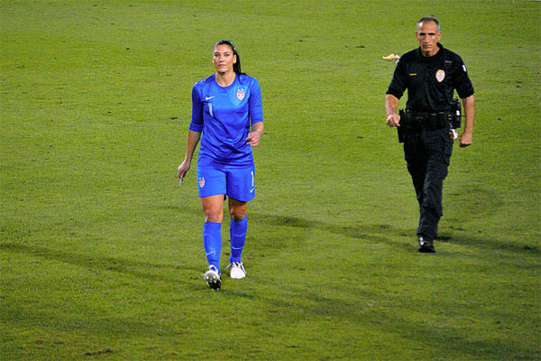 File photo. U.S. soccer star Solo is scheduled to stand trial for misdemeanor domestic violence on January 20.