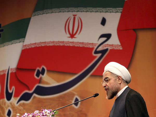 Iranian President-elect Hasan Rowhani speaks in Tehran on June 29, 2013. Rowhani says he wants to end Iran's isolation and is seeking greater interaction with the outside world.