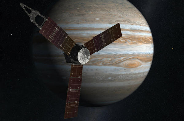 A rendering of the Juno spacecraft. (NASA/Facebook)