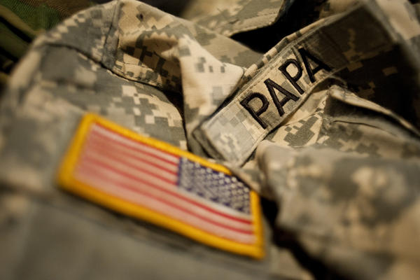 Papa was in the Army National Guard and served two tours in the Middle East in 2008 and 2009.
