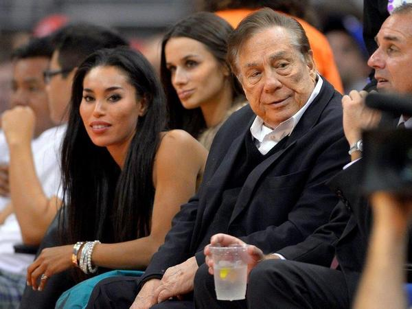 Former Los Angeles Clippers owner Donald Sterling, pictured with associate V. Stiviano. Her recordings of his racist remarks about blacks sparked an NBA scandal this spring and cost him his team.