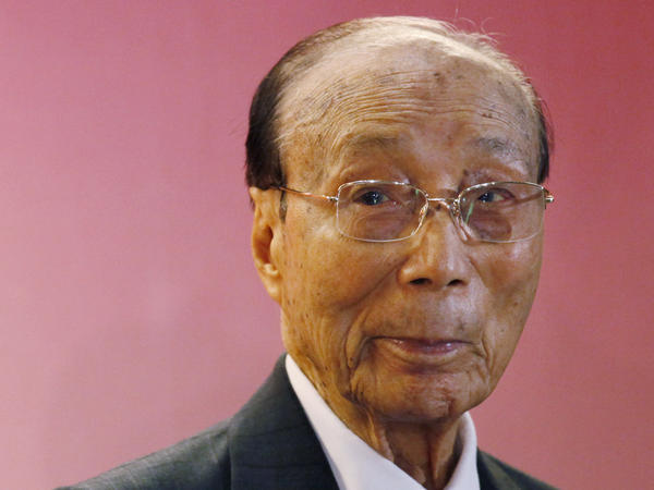 Hong Kong media mogul Run Run Shaw poses for a photograph during the Run Run Shaw Prize presentation ceremony in Hong Kong in 2010.