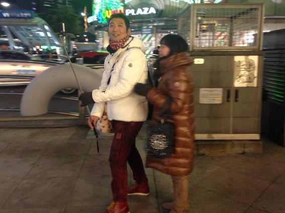 Selfie stick in South Korea.