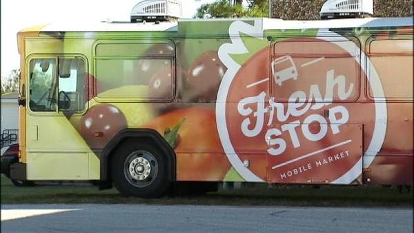The Fresh Stop bus has routes through more than a dozen low-income Orlando neighborhoods.