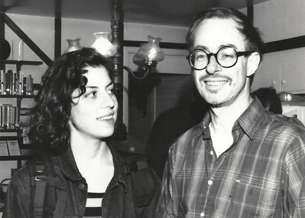 Alysia Abbott and her dad, Steve Abbott, are pictured in San Francisco in 1991. (Courtesy)