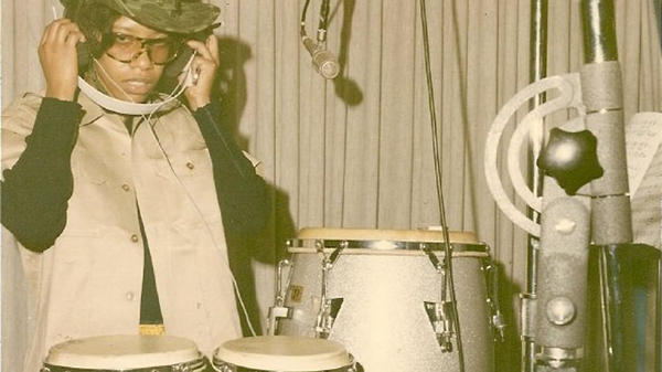 A young Bobbye Hall in the studio.