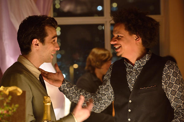 <em>Man Seeking Woman </em>is a cross between an early Woody Allen comedy and a very edgy late-night comedy sketch. Jay Baruchel (left) plays Josh; Eric Andre plays Mike.