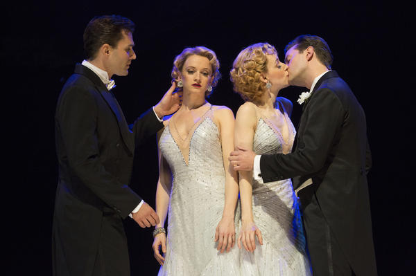 """<em>Side Show</em> tells the true story of conjoined twins who go from a freak show to vaudeville and try, unsuccessfully, to find love along the way. """"We just did not get enough bodies and butts in seats that translate into word of mouth,"""" says <em>Side Show</em> producer Darren Bagert. Above (from left): Ryan Silverman, Emily Padgett, Erin Davie and Matthew Hydzik."""