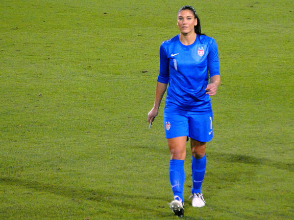 File photo of U.S. soccer star Hope Solo.