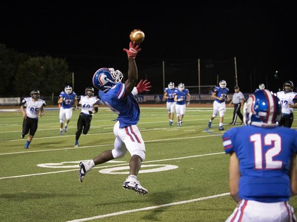 Varsity football captain Nahshon Ellerbe is a senior at Trinity Christian Academy in Addison, Texas.