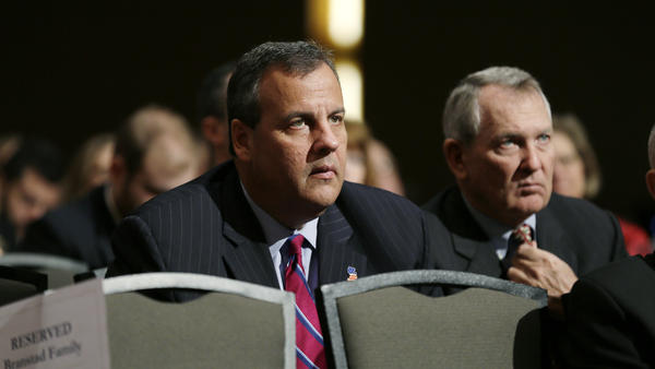 New Jersey Gov. Chris Christie, seen here at the inauguration of Iowa Gov. Terry Branstad, will attend the Iowa Freedom Summit.